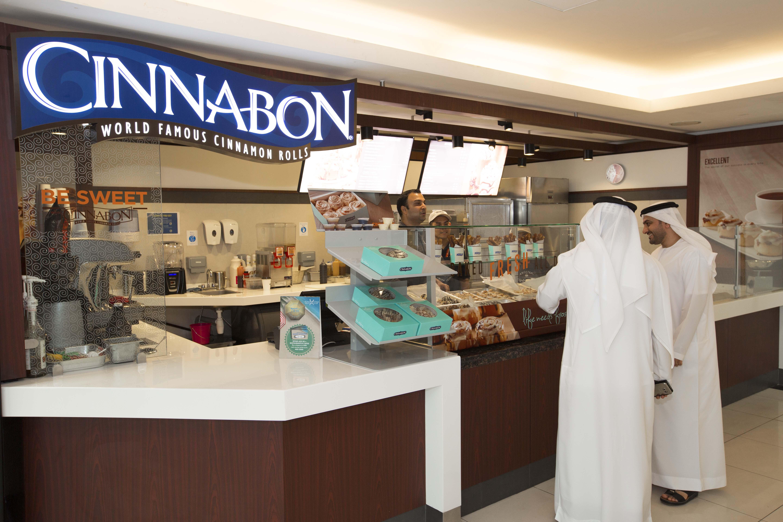 Customers at AUH Cinnabon