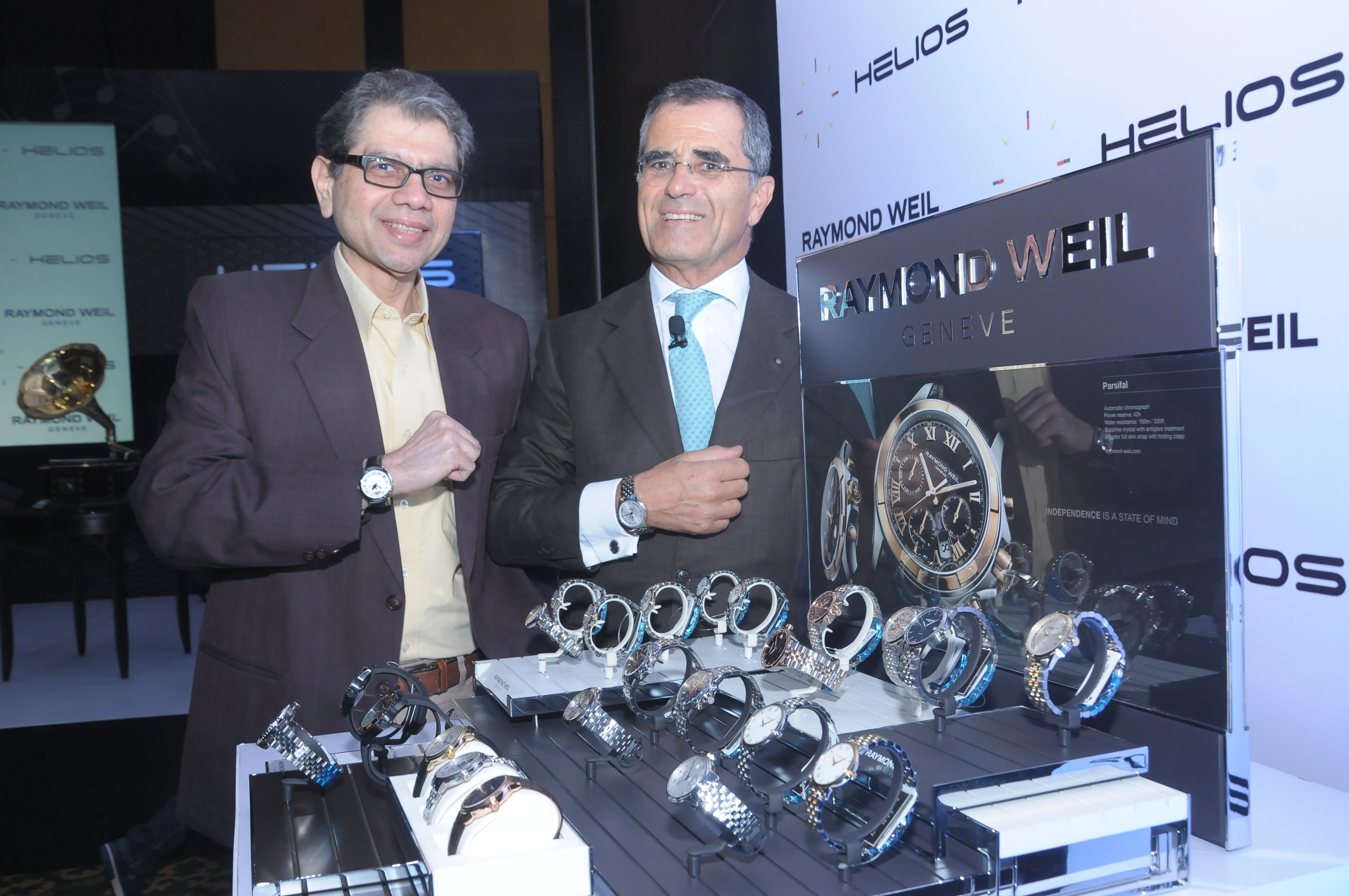 High res L-R – S. Ravi Kant, CEO, Titan Watches & Accessories and Olivie…