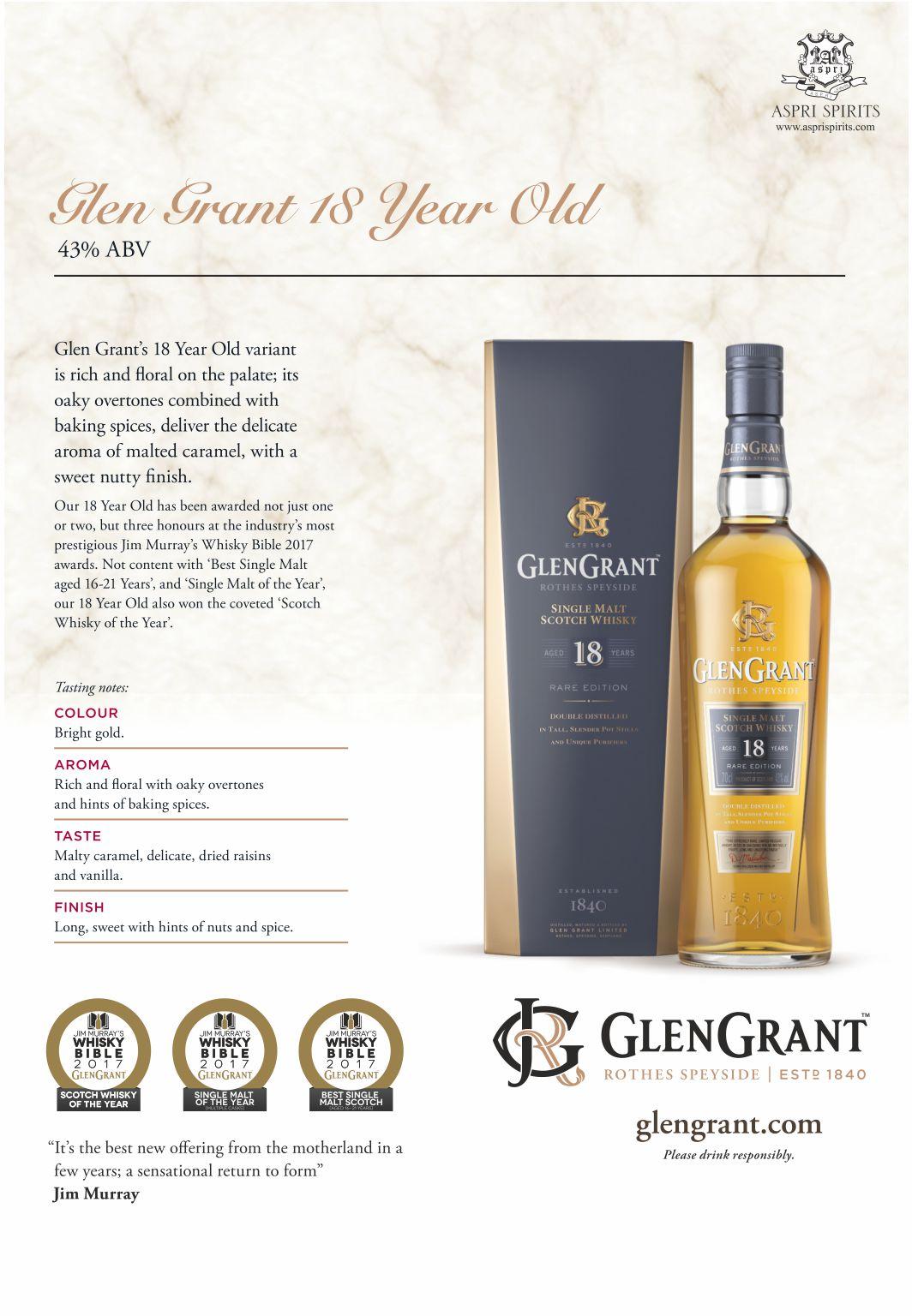 Glengrant 18 Years